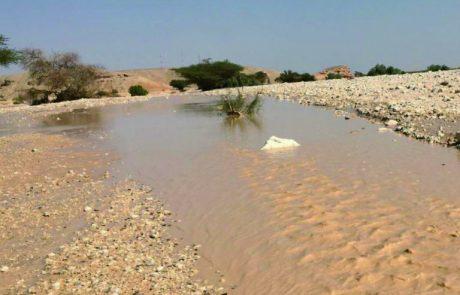 סיכום אירועי גשם וזרימות בערבה – סתיו 2018